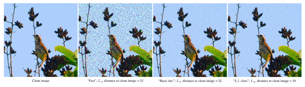 Examples of adversarial image